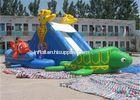 Renting Waterproof Adult Inflatable Water Slide Pool For Backyard