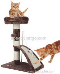 high quality cat scratcher tree with natural sisal posts