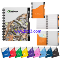 Hot selling SWEDA PP cover notebook with plastic ballpen