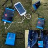 Portable Solar Charger with LED Light /Mini Fan for Walking Outside Sports