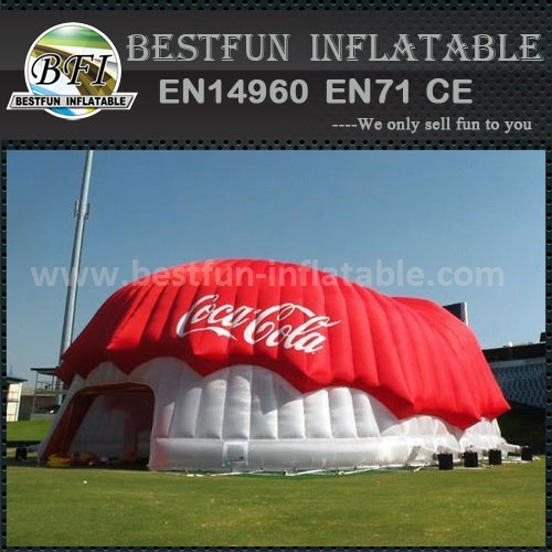 Cocacola inflatable exhibition dome Manufactuer