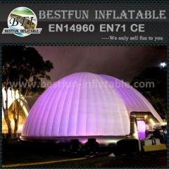 Inflatable igloo tent with LED