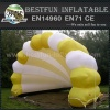 Colorful inflatable shell shape tent
