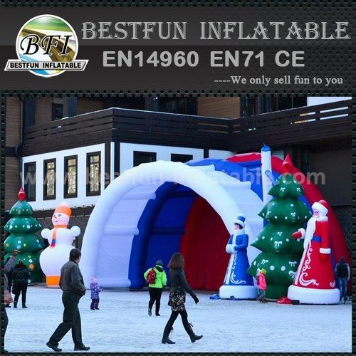 Custom airtight inflatable tents