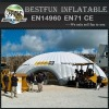 Detachable banner inflatable tent for promotion
