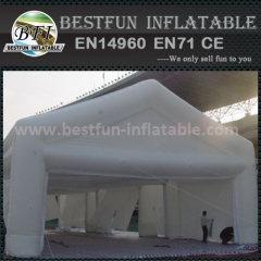 Outdoor inflatable garage tent