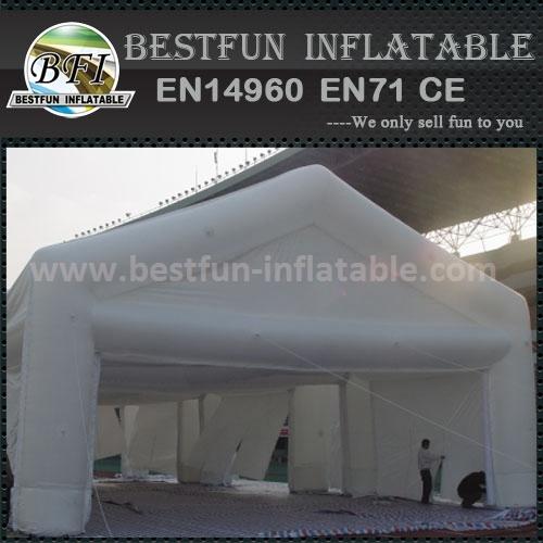 Outdoor inflatable garage tent