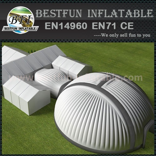 Huge inflatable exhibition dome