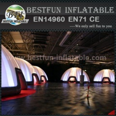Inflatable lighting party dome tent