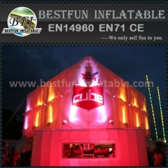 Inflatable lighting exhibition tent