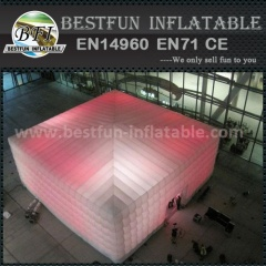Lighting inflatable air cube tent