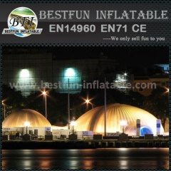 Outdoor lighting inflatable tent