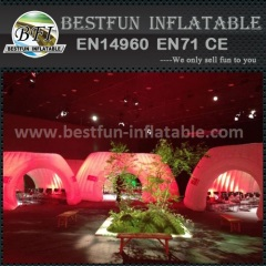 Trade show inflatable Lighting booth