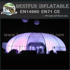 Exhibition durable inflatable lighting tent