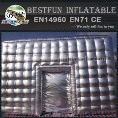 Advertising Inflatable cube with silver color