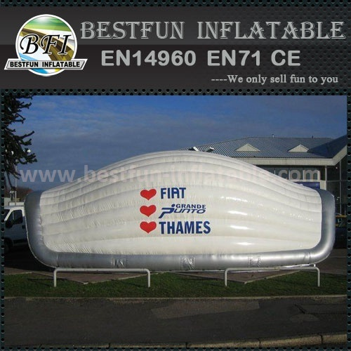Inflatable luxury tent with shell shape