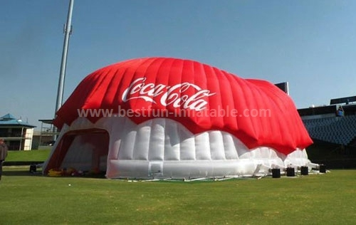 Cocacola customized portable inflatable dome building