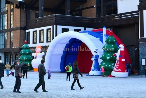 Custom china inflatable tent manufacturers for Christmas use