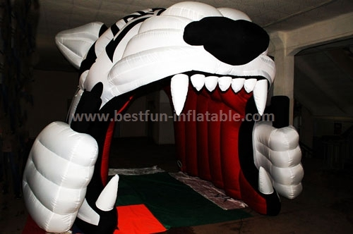 Design tiger head model cheap inflatable tent china