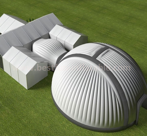 Giant White inflatable dome structures