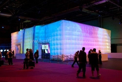 Huge led lighted inflatable tent