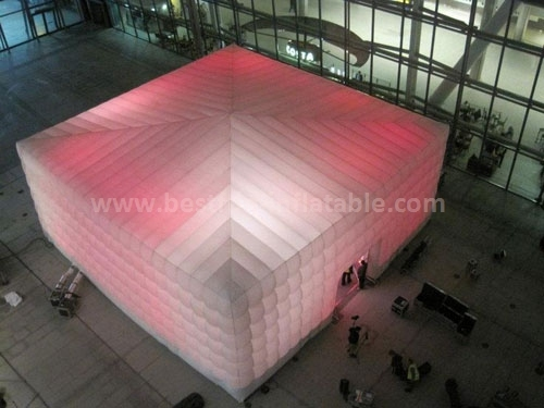 LED light cube tent inflatables