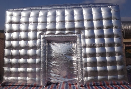 Silver inflatable cube tent for sale