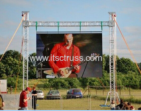 60 x 40ft heavy duty ledisplay goalpost