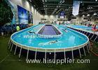 Funny Above Ground Metal Framed Swimming Pools / 10ft Steel Frame Swimming Pool