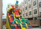 Exciting Clown Durable PVC Commercial Huge Inflatable Slide Rental