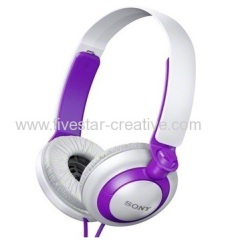 Sony Extra Bass XB Headphones Violet MDR-XB200 On-Ear Headphones