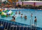 Commercial Large Rectangular Metal Frame Pool , Mobile Swimming Pool For Park