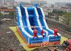 Double Slide Way Commercial Inflatable Slide, Giant Inflatable Mega Slide For Adults