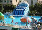 Giant Metal Frame Pool , Above Ground Pool Water Slide For Amusement Park