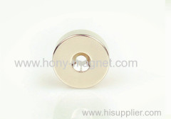 Nickel plating countersunk ring magnet