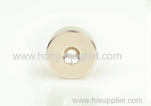 Nickel plating countersunk ring magnet