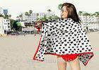 Five-pointed Star Patterned Microfiber Beach Towels Customized Machine Washing