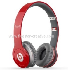 Beats Solo HD Over-Ear Headphones Red With Mic Remote Control On Cable