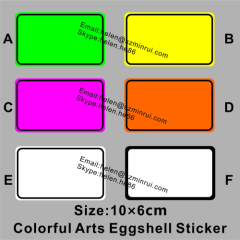 color eggshell sticker in blanks for arts graffiti