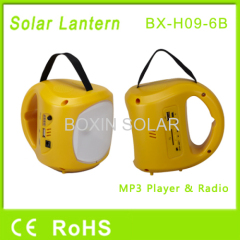 LED solar lantern with radio usb sd