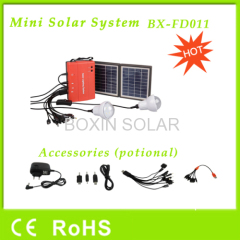 Solar home lighting system with 2 bulbs