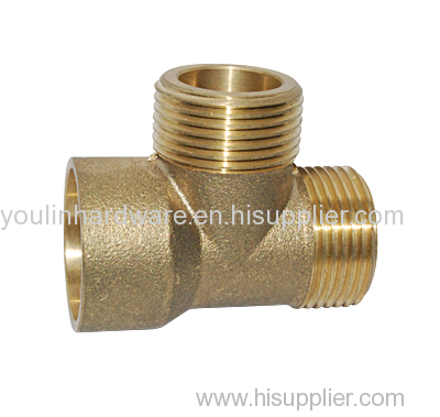 Forged brass 3 way welding elbow