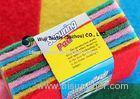 Colourful Heavy-duty Scouring Pad , Dish Washing Pad Sponge Cleaning