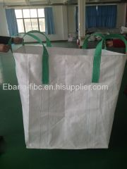 4 loop white duffle top plain bottom FIBC