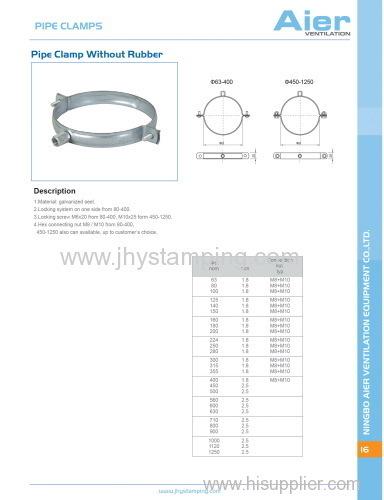 ventilation parts - pipe clamp