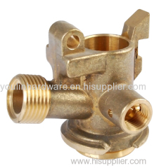 Forged brass three-way valve