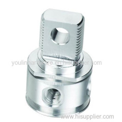 Precision machining aluminum fittings
