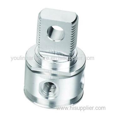 Precision machining aluminum fittings