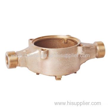 Casting brass water meter housing