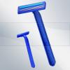 twin blade razor with lubricant strip